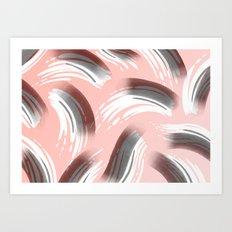 Pink Party Pattern Art Print