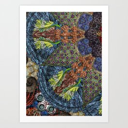 Psychedelic Botanical 6 Art Print