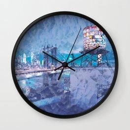 Brooklyn Bridge and NYC Skyline Artistic Wall Clock