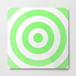 Target (Light Green & White Pattern) Metal Print