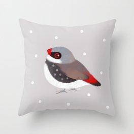 Diamond Firetail Throw Pillow