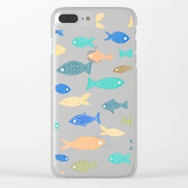 Colorful Fish Clear iPhone Case