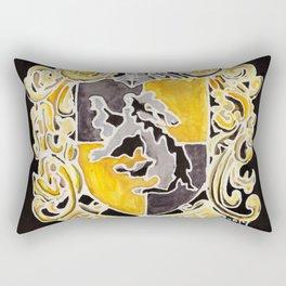 Hufflepuff Crest Rectangular Pillow