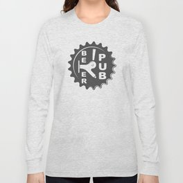 Black Beer Pub Brewery Handcrafted style Fashion Modern Design Print! Long Sleeve T-shirt