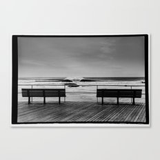 Two Benches Canvas Print