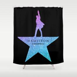 Fantasy Glitter hamilton musical Shower Curtain