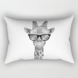 Hipster Giraffe Rectangular Pillow