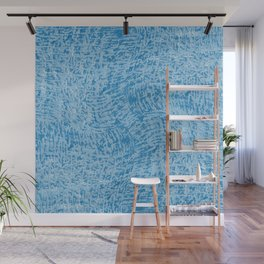 Blue Textured Organic Abstract Wall Mural