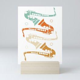 Retro Saxophone Mini Art Print