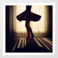 dancer Art Prints featuring Dancer by Kameron Elisabeth