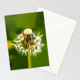 Rainbow dandelion seeds Stationery Cards