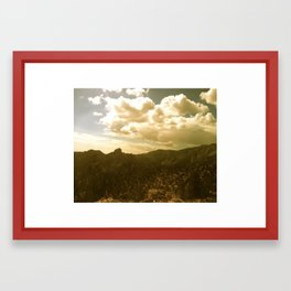 The Sierras Framed Art Print