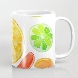 colorful citrus fruit watercolor Coffee Mug