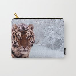 Tiger and Snow Carry-All Pouch