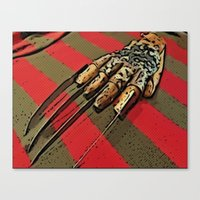 freddy krueger Canvas Prints featuring Freddy Krueger by Rachel Bradford