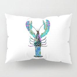 Fun Mandala Lobster Art - Colorful Beach Decor - Sharon Cummings Pillow Sham