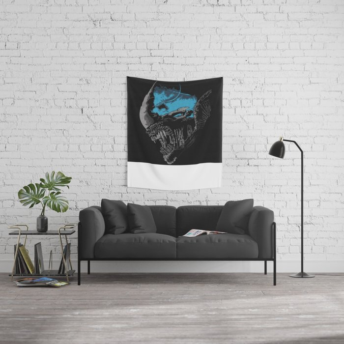 On A Dark Moon. Wall Tapestry
