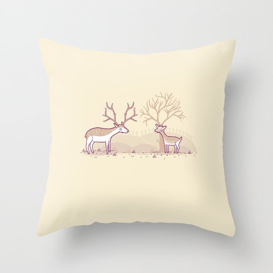 Growing up fast Throw Pillow