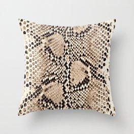 Snake skin art print Throw Pillow
