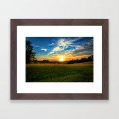 Dale Hollow Sunset Framed Art Print