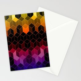 Rainbow Cubes Stationery Cards