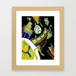 creator and commentator Framed Art Print