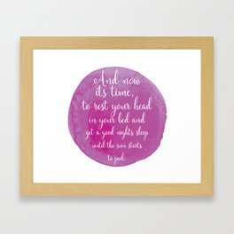 And Nows its time... Pink Nursery Print Framed Art Print