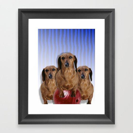 The Team Framed Art Print