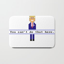 Trump Quest '16 Adventure Game T-Shirt - Retro Computer Game Bath Mat