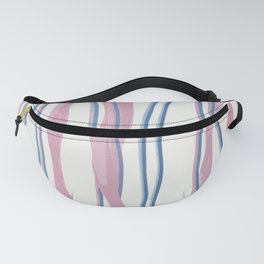 Blue and Pink Cut Yarn Fanny Pack