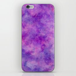 Bright Purple Watercolor Texture iPhone Skin