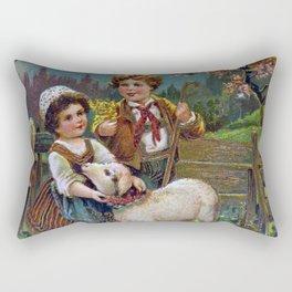 Easter Greetings 1908 Rectangular Pillow
