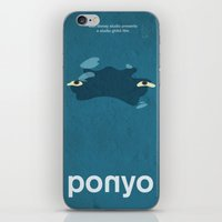ponyo iPhone & iPod Skins featuring Ponyo by Fabio Castro
