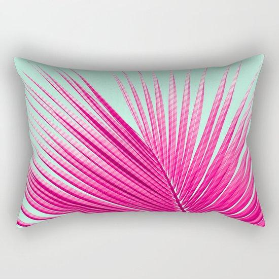 Pink Candy Cane Palm Rectangular Pillow