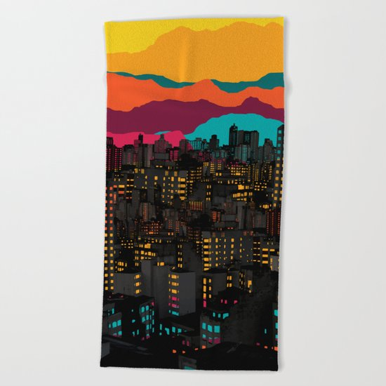 Fragmented III VI Beach Towel