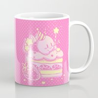kirby Mugs featuring Kirby Cake by Miski