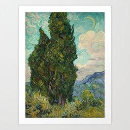Cypresses - Van Gogh Art Print