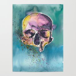 Colorful Skull 5 Poster