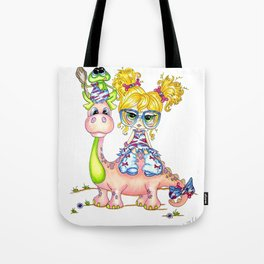 Eleanor and Pickles Dino Fun by Heather Valentin Lacy Sunshine Tote Bag