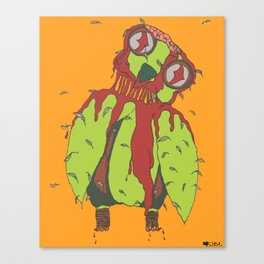Zombie Owl Canvas Print