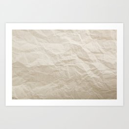 Brown Paper Texture Background Art Print