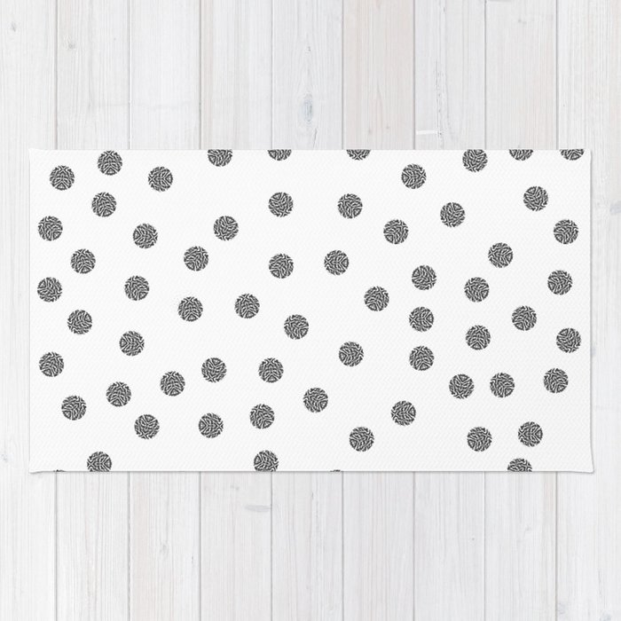 Preppy Brushstroke Dots Black And White Spots Design Minimal Society6 Decor Art