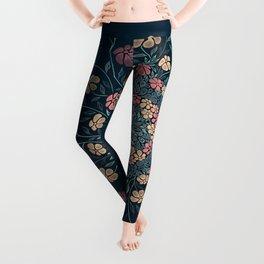 Pretty Pastels Dark Floral Watercolors Leggings