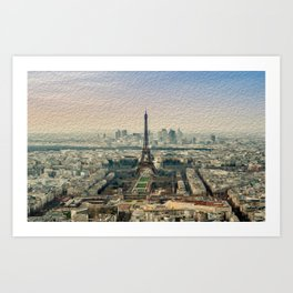 Paris , Eiffel Tower Art Print