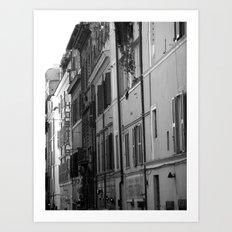 Rome Streets in Grey Art Print