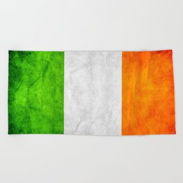 TriColour of Ireland bywhacky Beach Towel