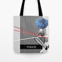 vogue Tote Bags featuring Vogue by Frank Moth