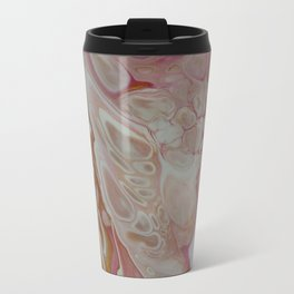 Rose Gold Abstract  - Fluid Acrylic Painting Travel Mug