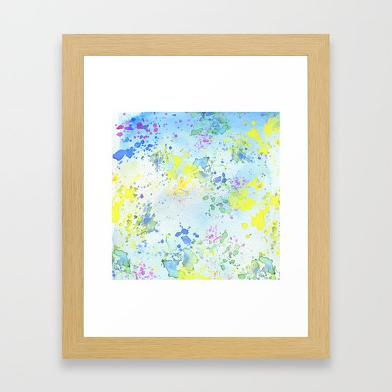 Colorful Yellow and Blue Watercolor Painting by pdpress