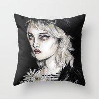 sky ferreira Throw Pillows featuring Sky ferreira no………………………..11 by Lucas David